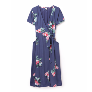Joules Ladies Callie Print Wrap Dress With Angled Pockets