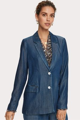 Maison Scotch Denim Tencel Blazer