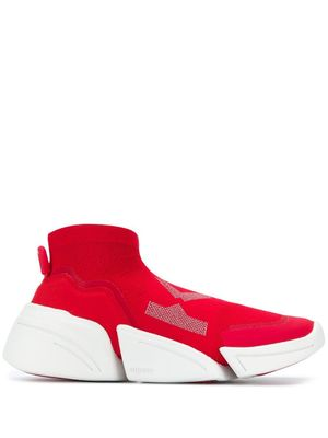 KENZO WOMEN'S FA62SN452F6521 RED SYNTHETIC FIBERS SLIP ON SNEAKERS