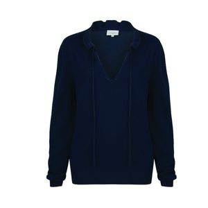 Dante6 Sweater with Tie Navy