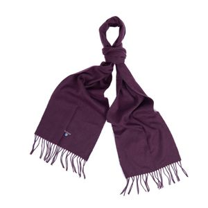barbour plain lambswool scarf , Colour:WINE