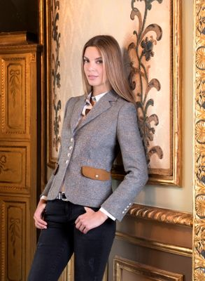 BARILOCHE TOLEDO TWEED JACKET GREY