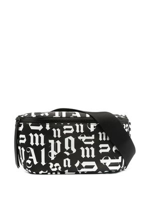 PALM ANGELS MEN'S PMNO001R21FAB0011001 BLACK COTTON BELT BAG