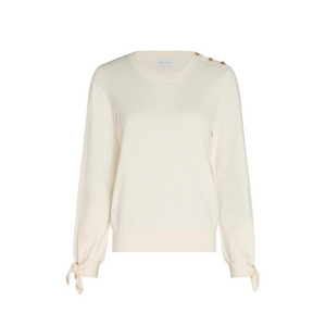FABIENNE CHAPOT Molly bow pullover CREAM