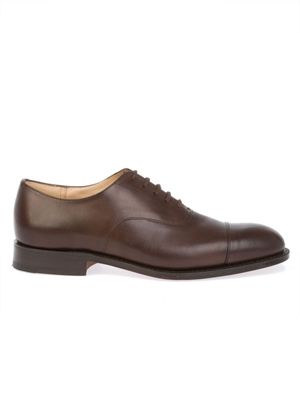 CHURCH'S MEN'S CONSULCALFEBONY BROWN LEATHER LACE-UP SHOES