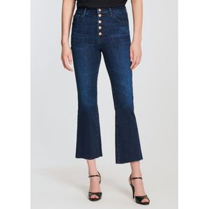 J Brand Lillie High Rise Cropped Flared Jeans - Impulse