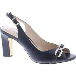 Carmen Navy Peep Toe Shoe