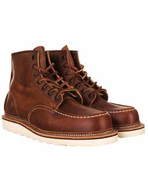 """Red Wing 1907 Heritage Work 6"""" Moc Toe Boot - Copper Rough & Tough Col"""