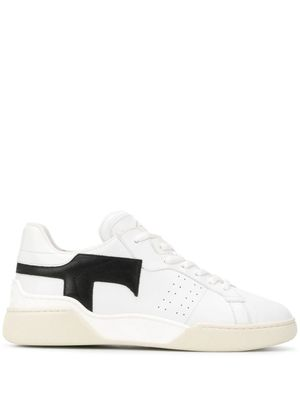 TOD'S WOMEN'S XXW31C0CU20JUS0001 WHITE LEATHER SNEAKERS