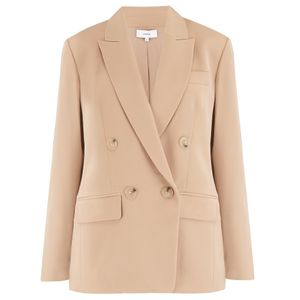 Vince Double Breasted Blazer in Sand Dollar