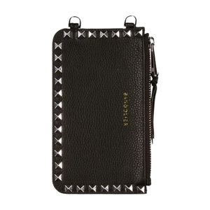 Bandolier Sarah Pebble Leather Pouch in Black/Silver
