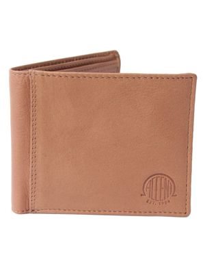 Souled Out Accent Logo Leather Zip Wallet Colour: Tan