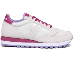 SAUCONY WOMEN'S 1044570 WHITE SUEDE SNEAKERS