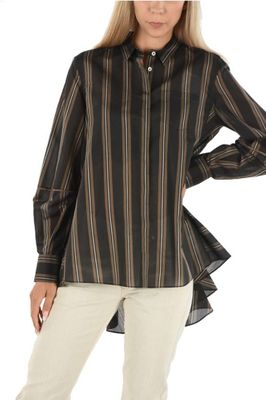 BRUNELLO CUCINELLI WOMEN'S MF762NG336C001 BROWN COTTON BLOUSE