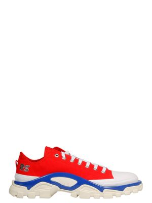 ADIDAS BY RAF SIMONS MEN'S EE7936 RED Fabric SNEAKERS