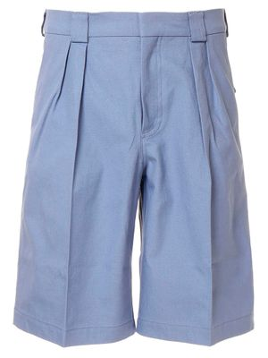 JACQUEMUS MEN'S 205PA0720501340 LIGHT BLUE COTTON SHORTS