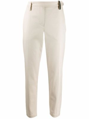 BRUNELLO CUCINELLI WOMEN'S MA126P6572CH657 BEIGE COTTON PANTS