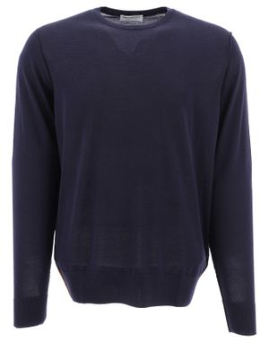 PRESIDENT'S MEN'S A19PPU507C889XXXX048 BLUE WOOL SWEATER