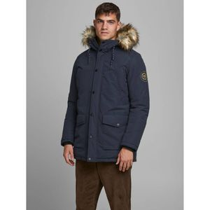 Jack & Jones Faux Fur-Lined Hood Parka - Navy Blazer