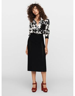 Diane Von Furstenberg Lorelei Two  In Charge  Shirt Colour: Black/Whit