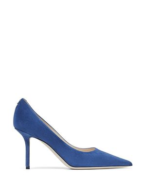 JIMMY CHOO WOMEN'S LOVE85BWJDENIM BLUE SUEDE PUMPS