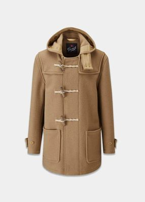 Gloverall Mid Monty Duffle Coat - Camel