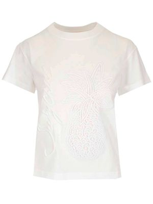 SEE BY CHLOÉ WOMEN'S CHS21SJH18098109 WHITE OTHER MATERIALS T-SHIRT