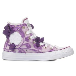 CONVERSE WOMEN'S MI1220 PURPLE FABRIC HI TOP SNEAKERS