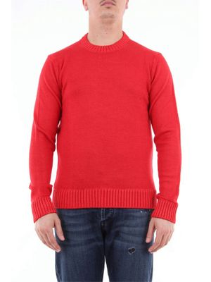 RETOIS MEN'S 19215ROSSO RED WOOL SWEATER