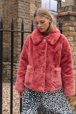 Crop Fur Coat