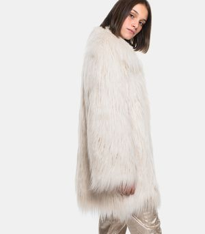 Faux fur White Fur Jacket Moon
