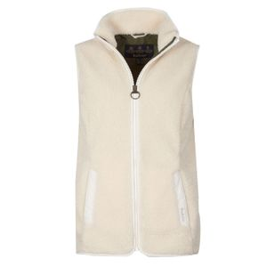 Barbour Womens Milburn Fleece Gilet Winter Pearl / Olive