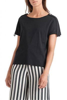 Marc Cain Tee with Button on Shoulder