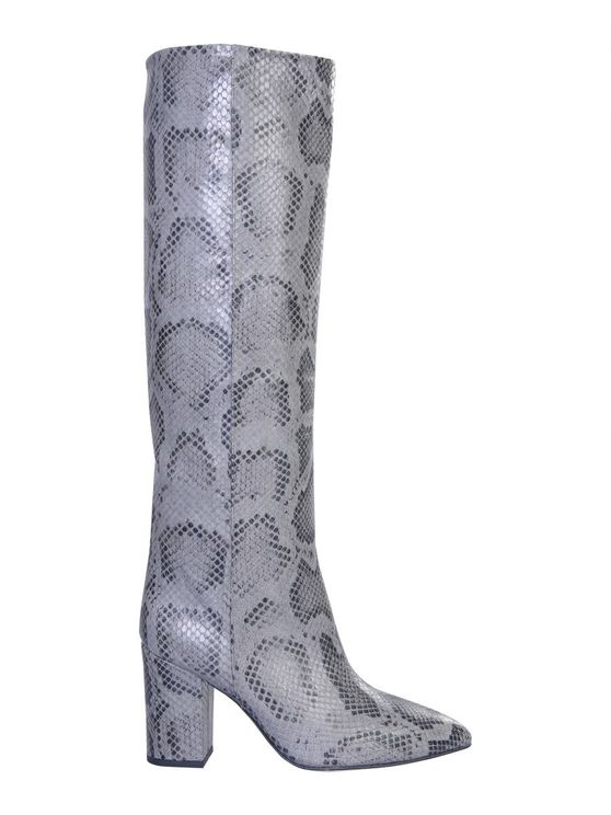 Paris Texas Grey Leather Boots