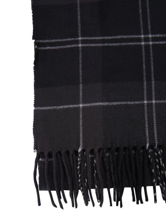 Barbour Black Acrylic Scarf