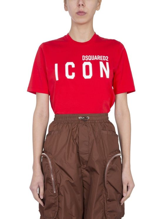 DSQUARED2 DSQUARED2 WOMEN'S S80GC0001S23009312 RED OTHER MATERIALS T-SHIRT