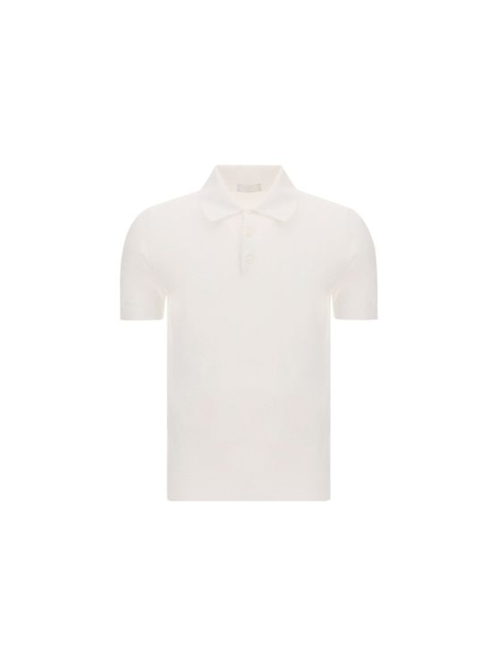 Prada PRADA MEN'S UMA625S17176VF0009 WHITE OTHER MATERIALS POLO SHIRT
