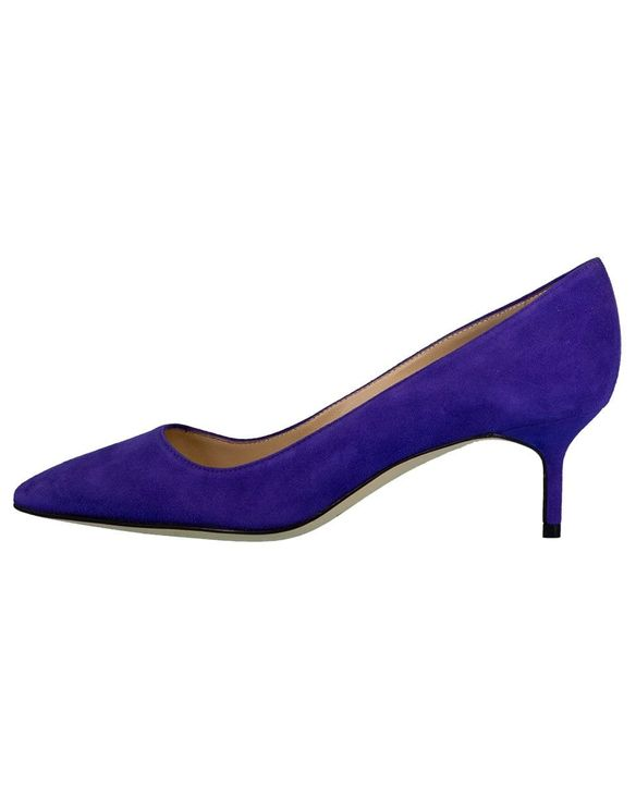 Manolo Blahnik Purple Suede Bb Pump