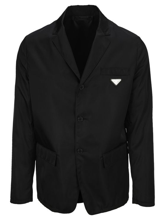Prada RE-NYLON SINGLE-BREASTED JACKET