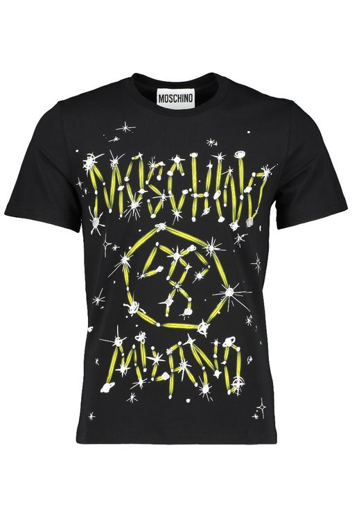 Moschino MENS MOSCHINO COUTURE STAR & PLANETS PRINT T SHIRT