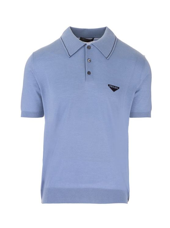 Prada PRADA MEN'S UMB189S2111YFRF0154 BLUE OTHER MATERIALS POLO SHIRT