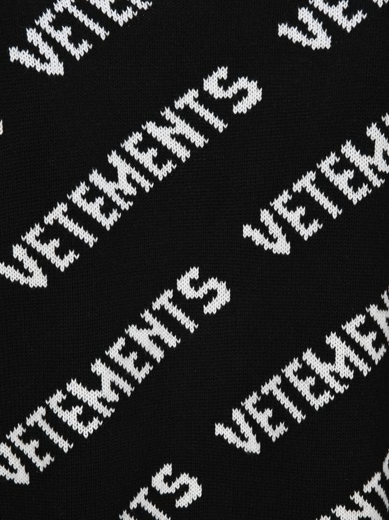 VETEMENTS Cardigans ALL OVER LOGO KNITTED CARDIGAN