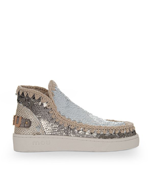 Mou Sneaker Summer Eskimo Mixed Materials In White