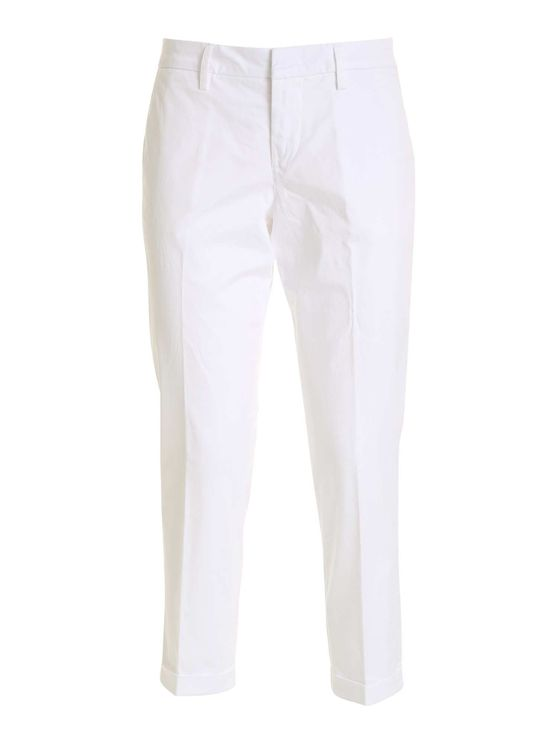 Fay Women's Ntw8042530tgupb001 White Other Materials Pants