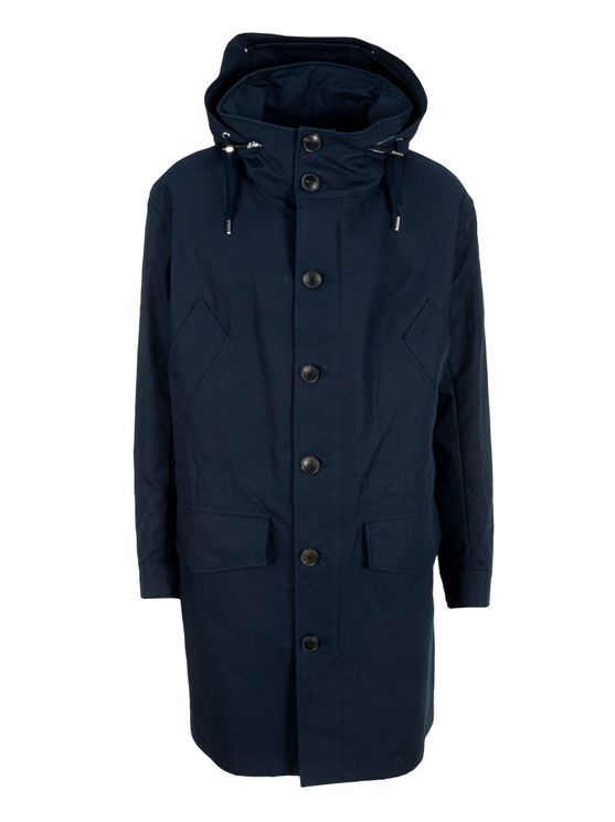 Ami Alexandre Mattiussi Long Parka In Blue