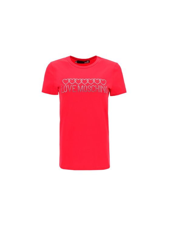Love Moschino Women's W4f731qe1951o49 Fuchsia Other Materials T-shirt In Pink
