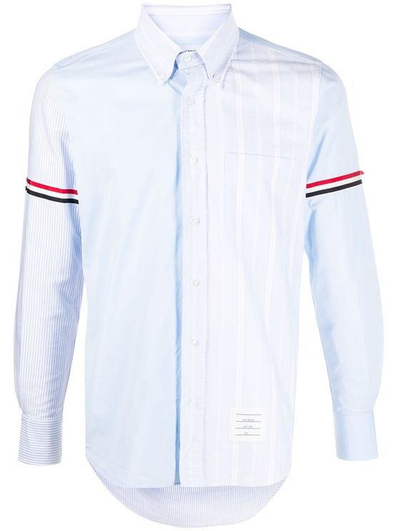 Thom Browne Men's Mwl301f03113480 Blue Cotton Shirt