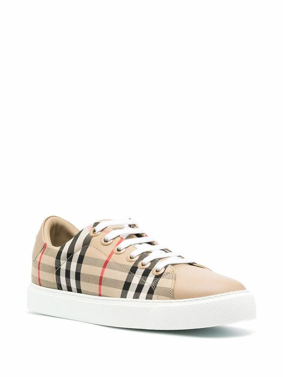 BURBERRY Sneakers BURBERRY WOMEN'S 8038866 BEIGE COTTON SNEAKERS