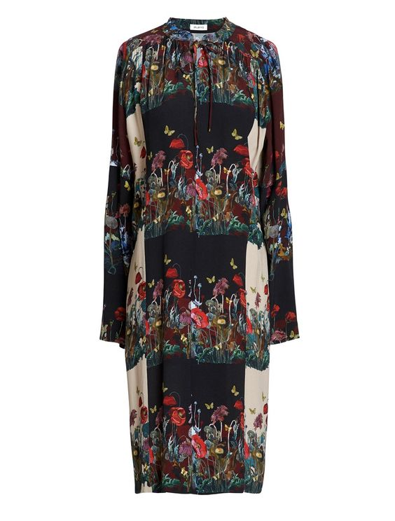 Ailanto Dandelions Patchwork Dress In Black