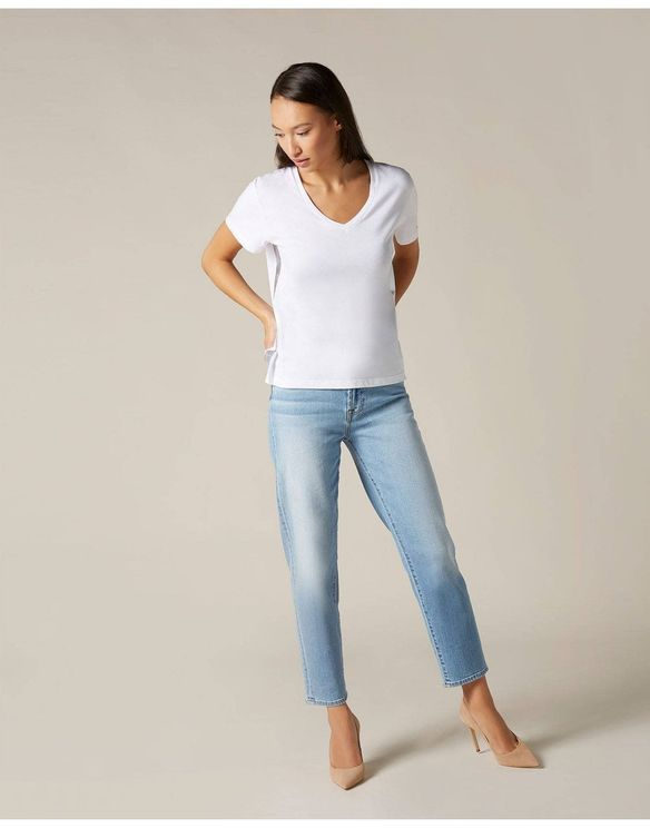 7 For All Mankind Maternity Straight-leg Jeans In Blue